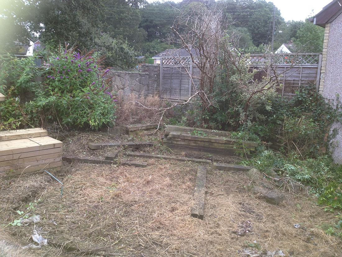 green man gardens landscape gardening before patios decking raised