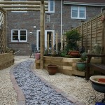 Green Man Gardens Landscape Gardening gravel pathway drive screening raised vegetable beds