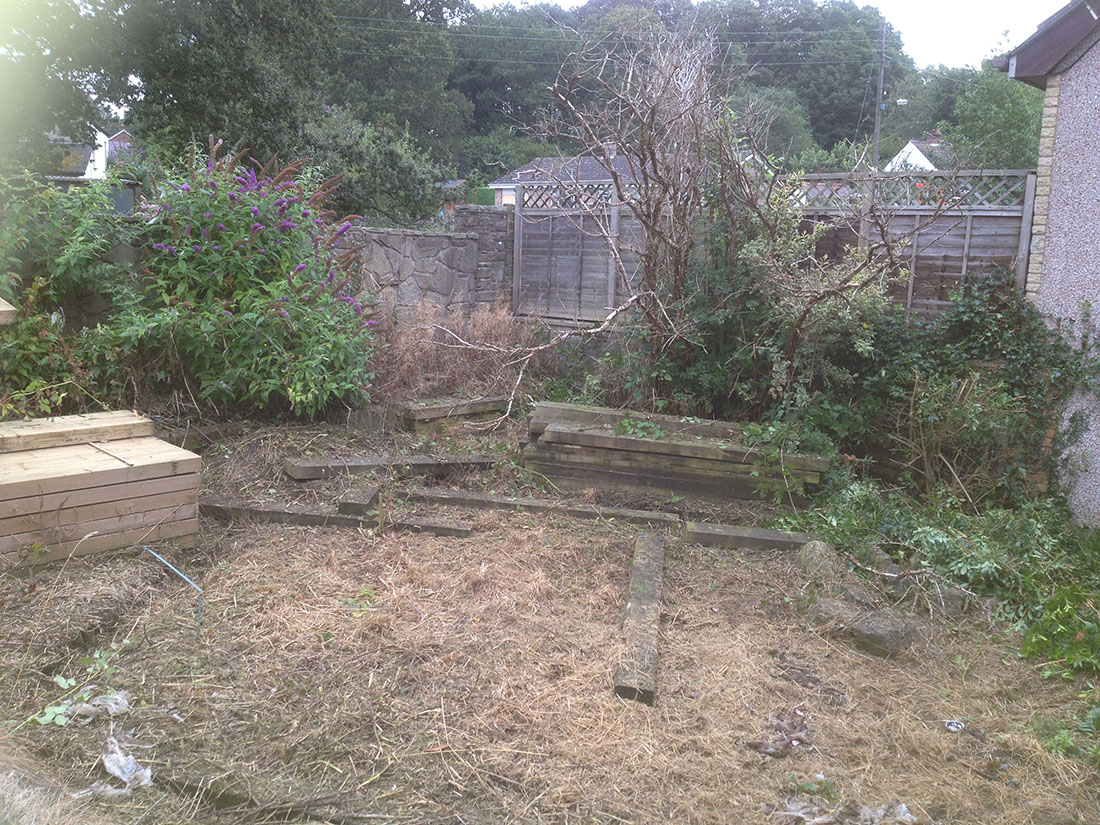 Green Man Gardens Landscape Gardening before patios decking raised vegetable beds levelling