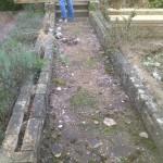 Green Man Gardens Landscape Gardening before levelling