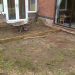 Green Man Gardens Landscape Gardening before patios decking levelling