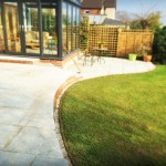 Convex Concave Raised Patio Natural Sandstone Paving Hempstead