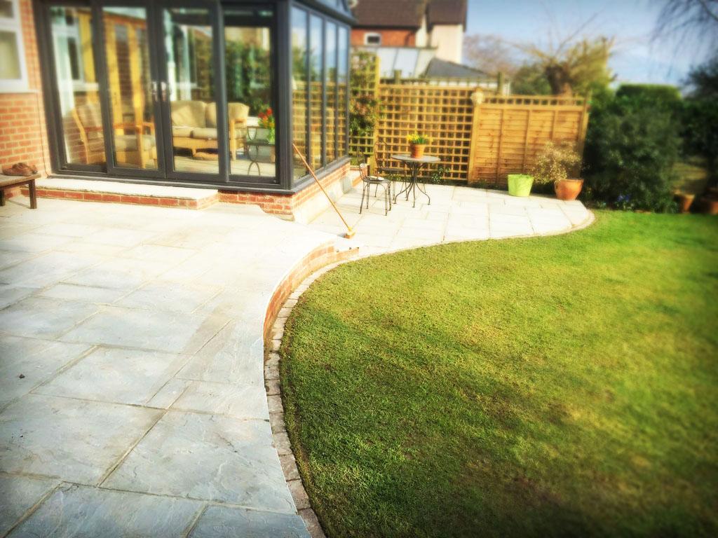 Convex Concave Raised Patio Natural Sandstone Paving Hempstead