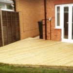 Decking Soft Wood FSC Installation AFTER
