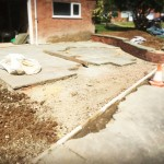 Drive Dwarf Wall Circle Feature Stonemarket Millstone Original Flagstones Driveway Hempstead