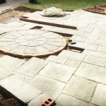 Drive Dwarf Wall Circle Feature Stonemarket Millstone Original Flagstones Driveway Hempstead