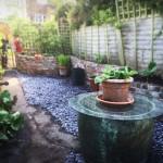 Reclaimed Brick Planter Retaining Wall Blue Slate Path Newnham on Severn