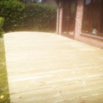 Soft Wood Decking Curved Staunton Forest of Dean